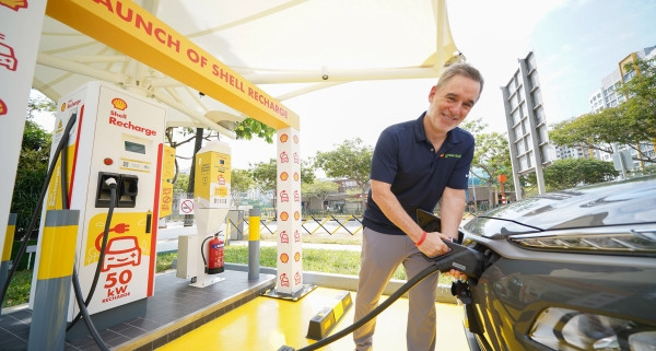 Shell's first electric vehicle fast charger lands in Singapore